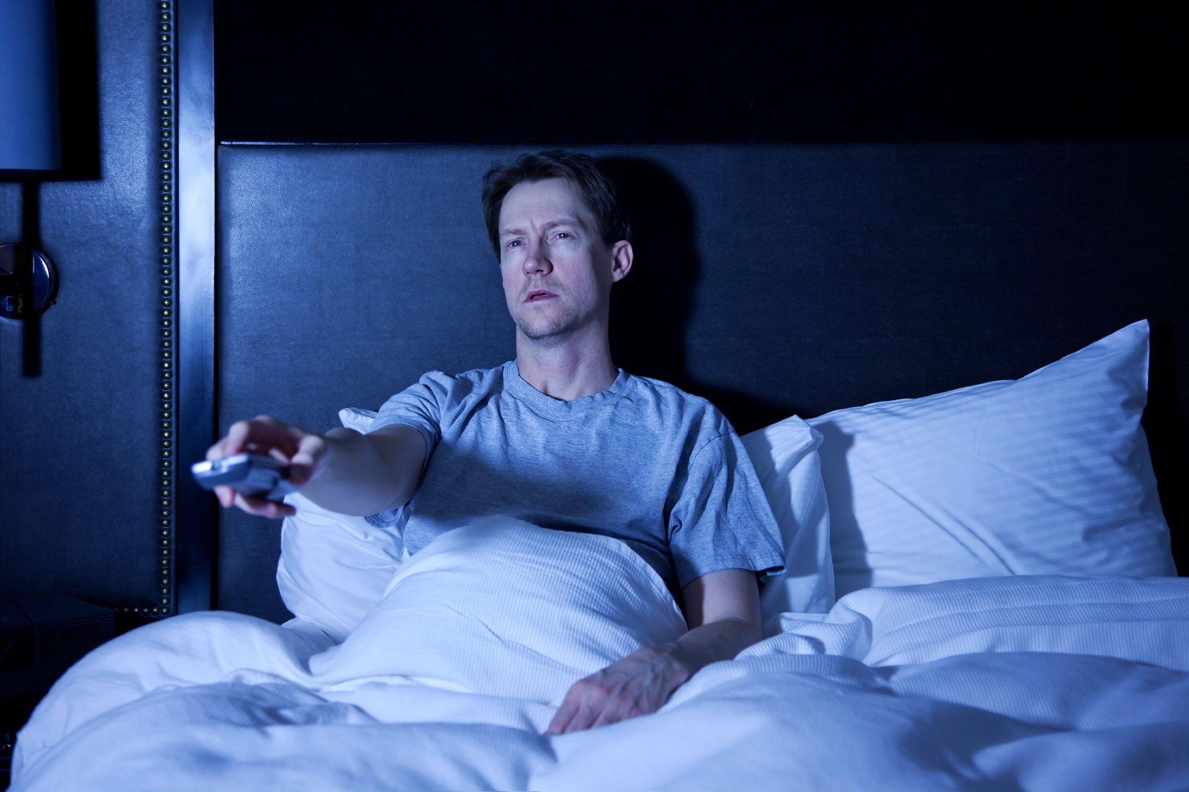 Myth: Don't fall asleep with the TV on
