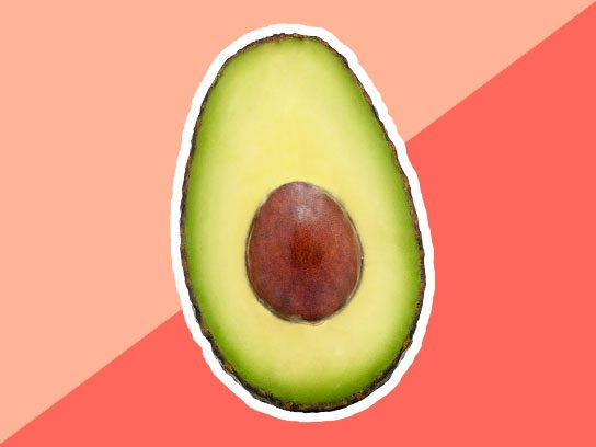 Avocado under eye