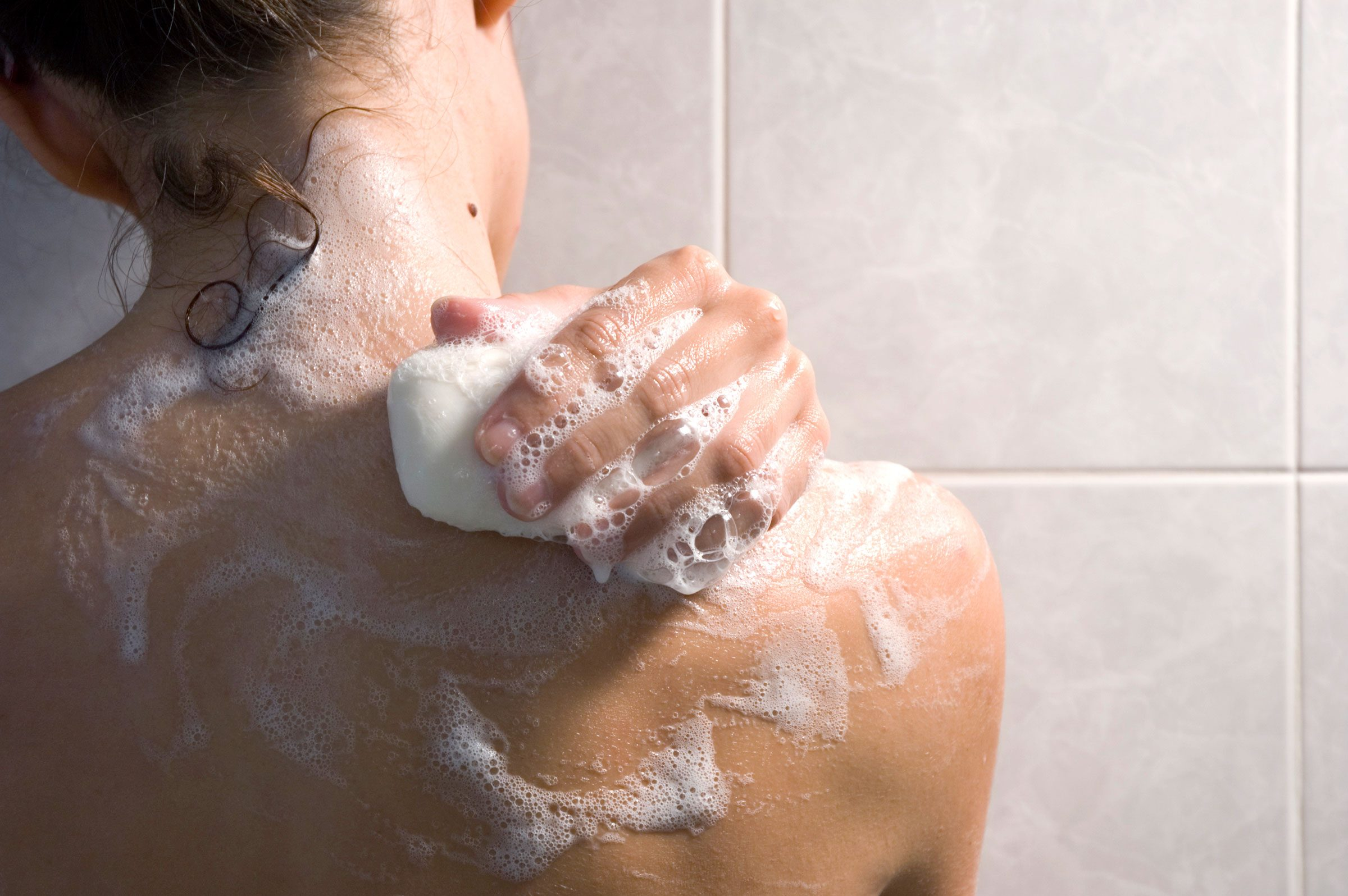 shower less often smelly parts