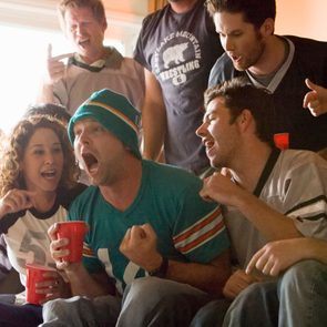people at super bowl party the critic