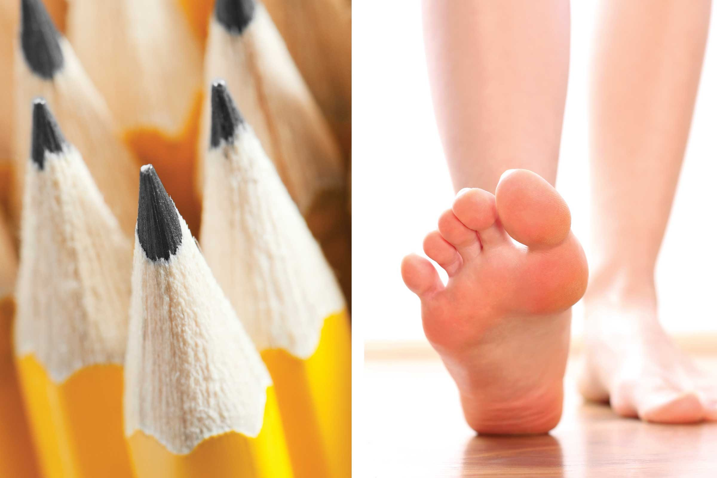 pain cures hiding in junk drawer pencil foot pain