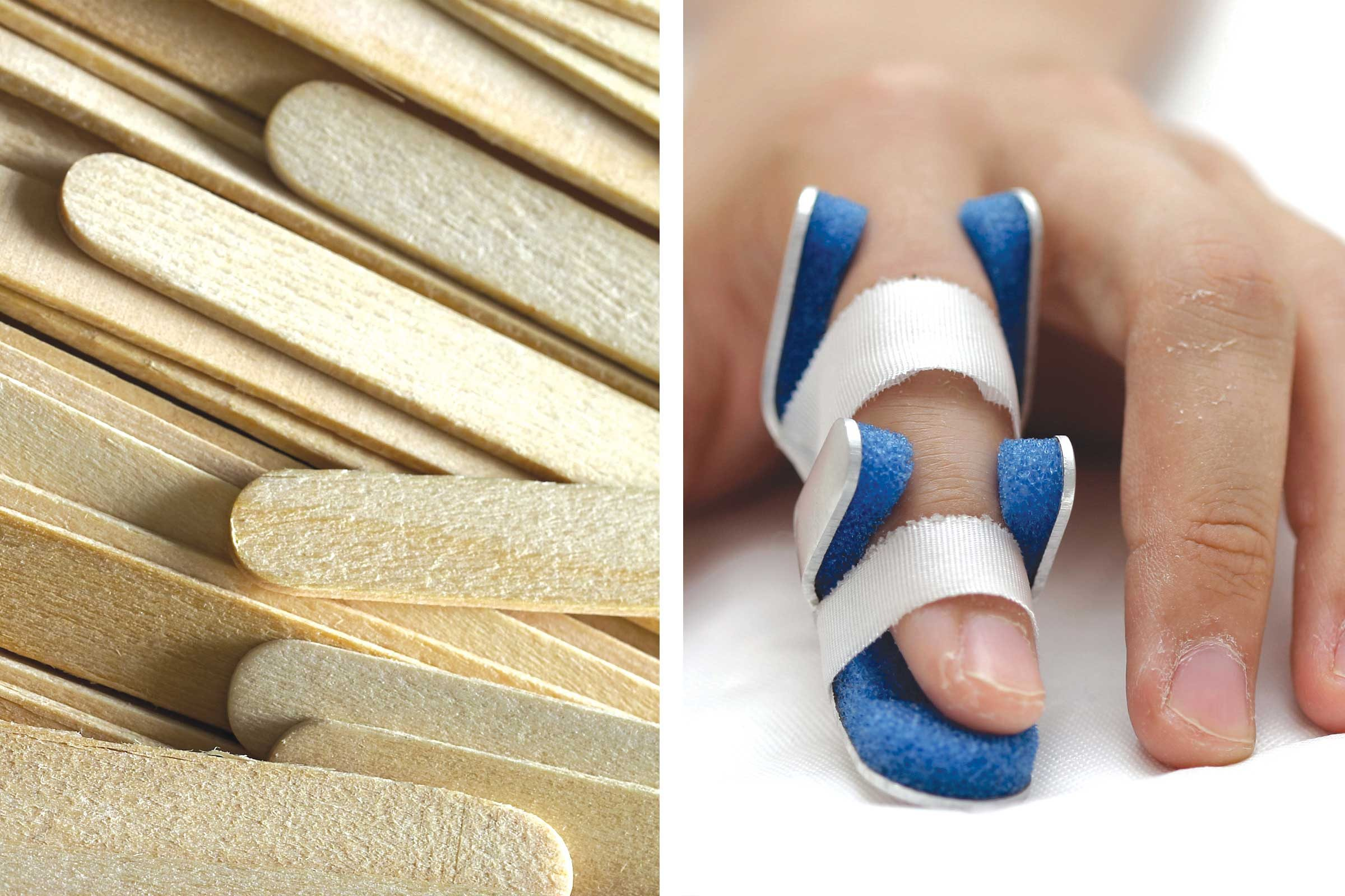 how to make a finger splint without a popsicle stick