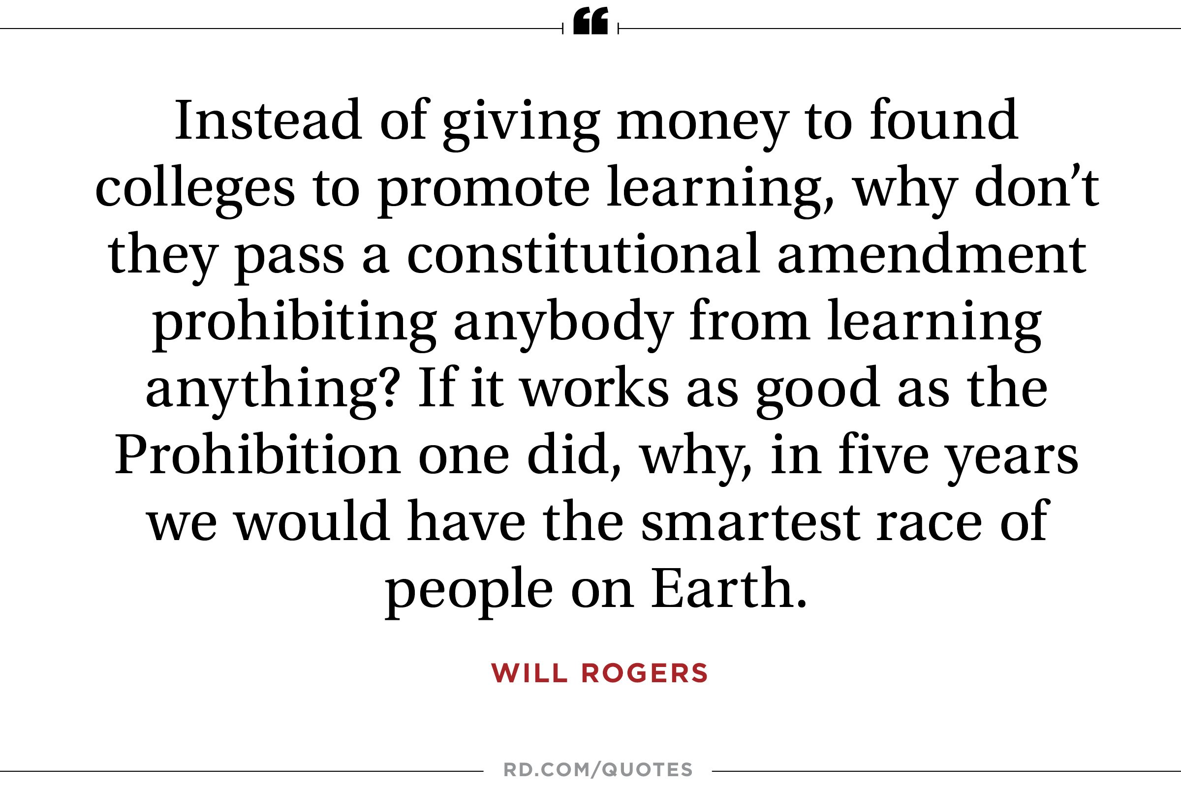 10 Wise Quotes From Will Rogers | Reader\'s Digest