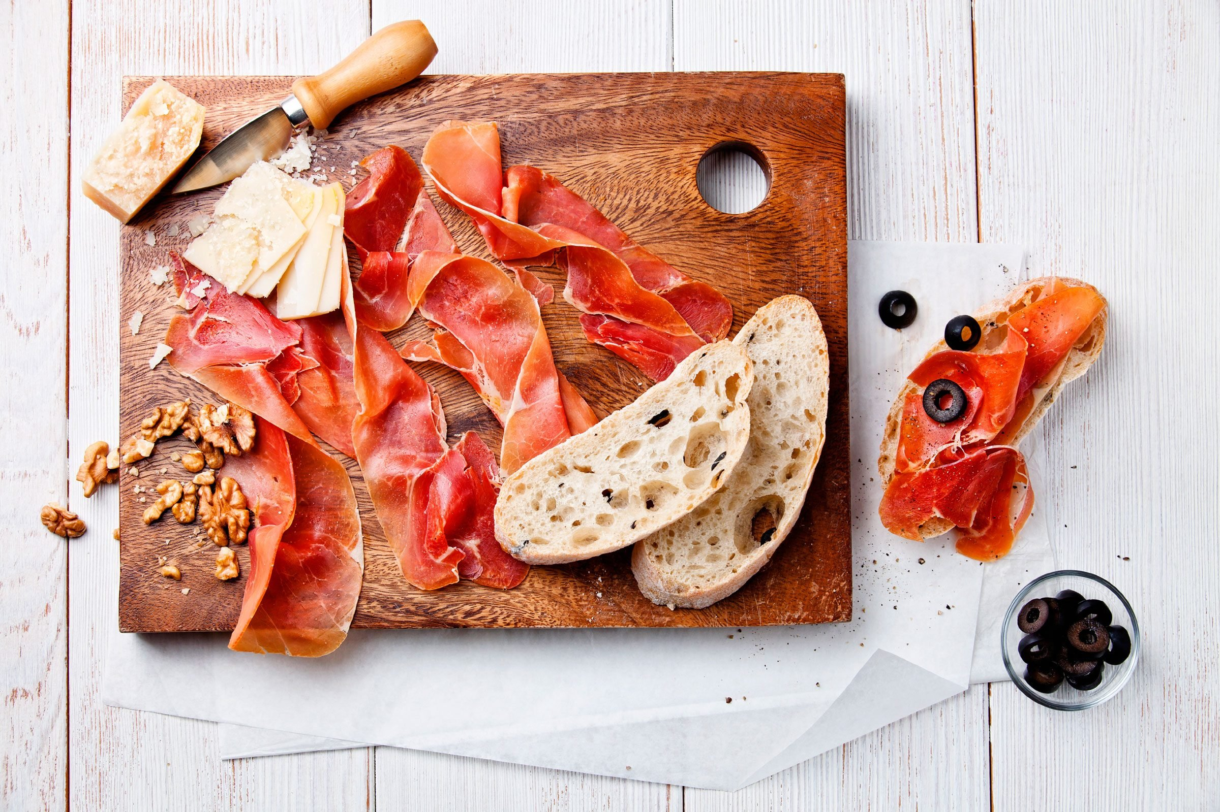 25 italian restaurant words prosciutto