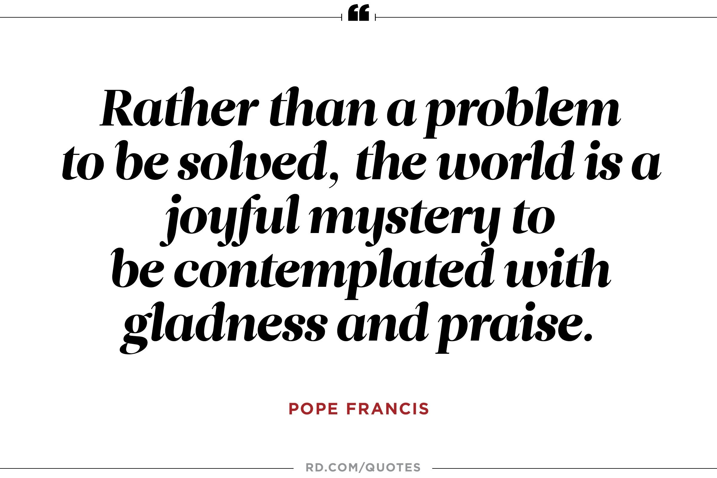 9 Powerful Pope Francis Quotes On Climate Change Reader S Digest