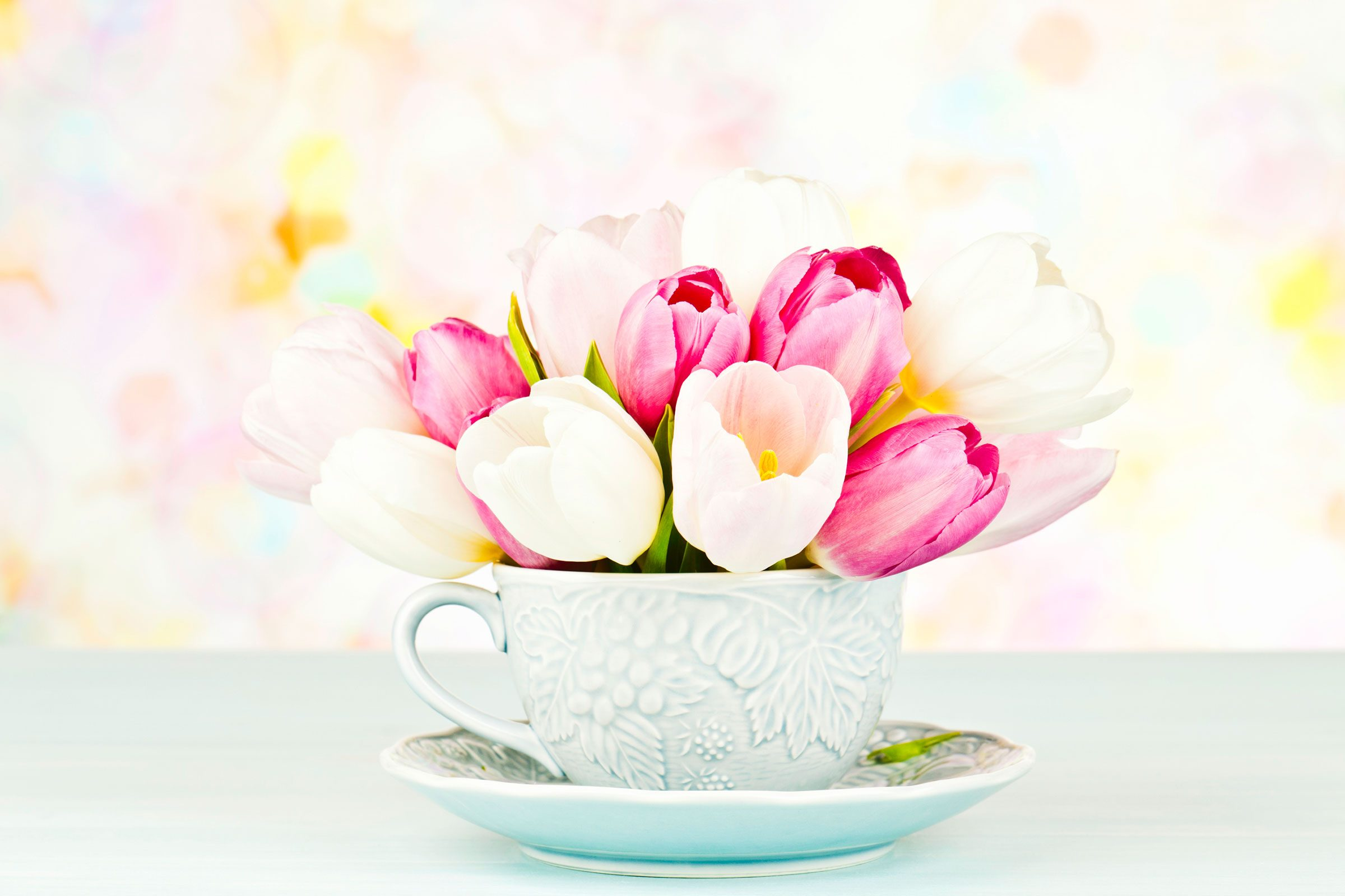 Easy cheap flower arrangements upgrade supermarket flowers present flowers in teacups izmirmasajfo