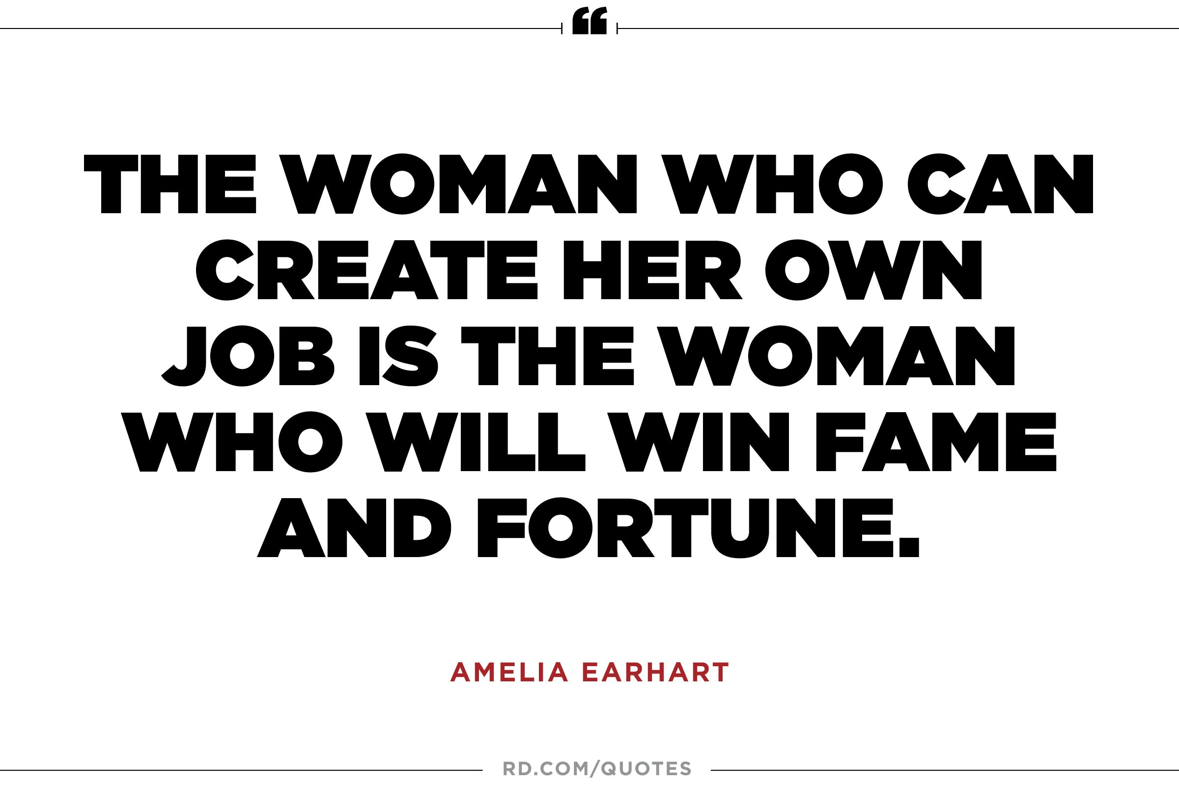 Women Empowerment Quotes 10 Amelia Earhart Quotes To Propel You To Greatness  Reader's Digest
