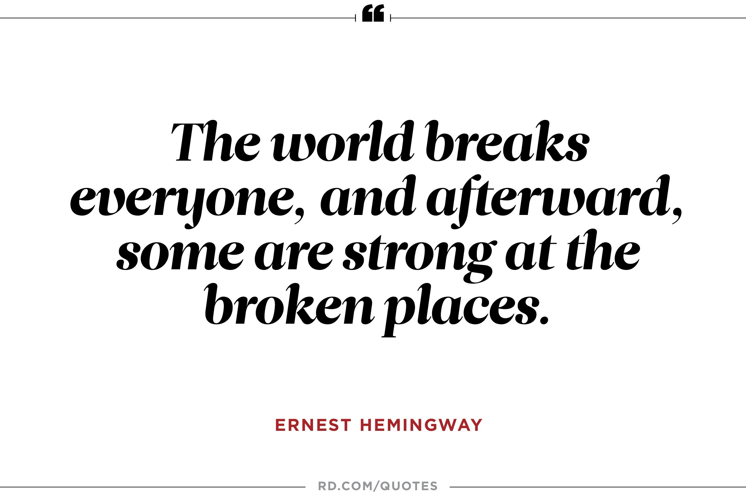 Hemingway Quotes On Love 12 Inspiring Ernest Hemingway Quotes  Reader's Digest