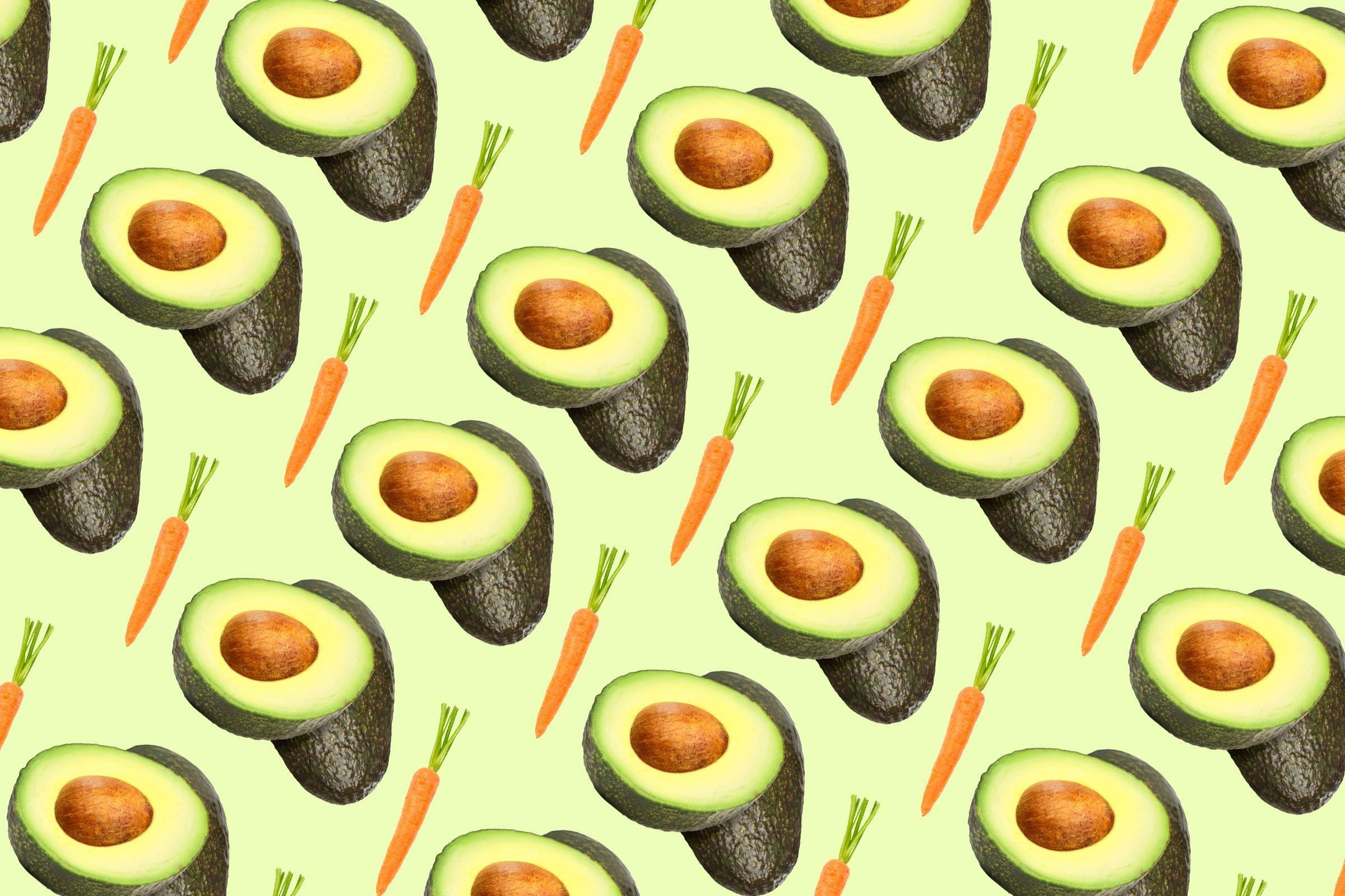 14 foods never eat alone avocado carrots