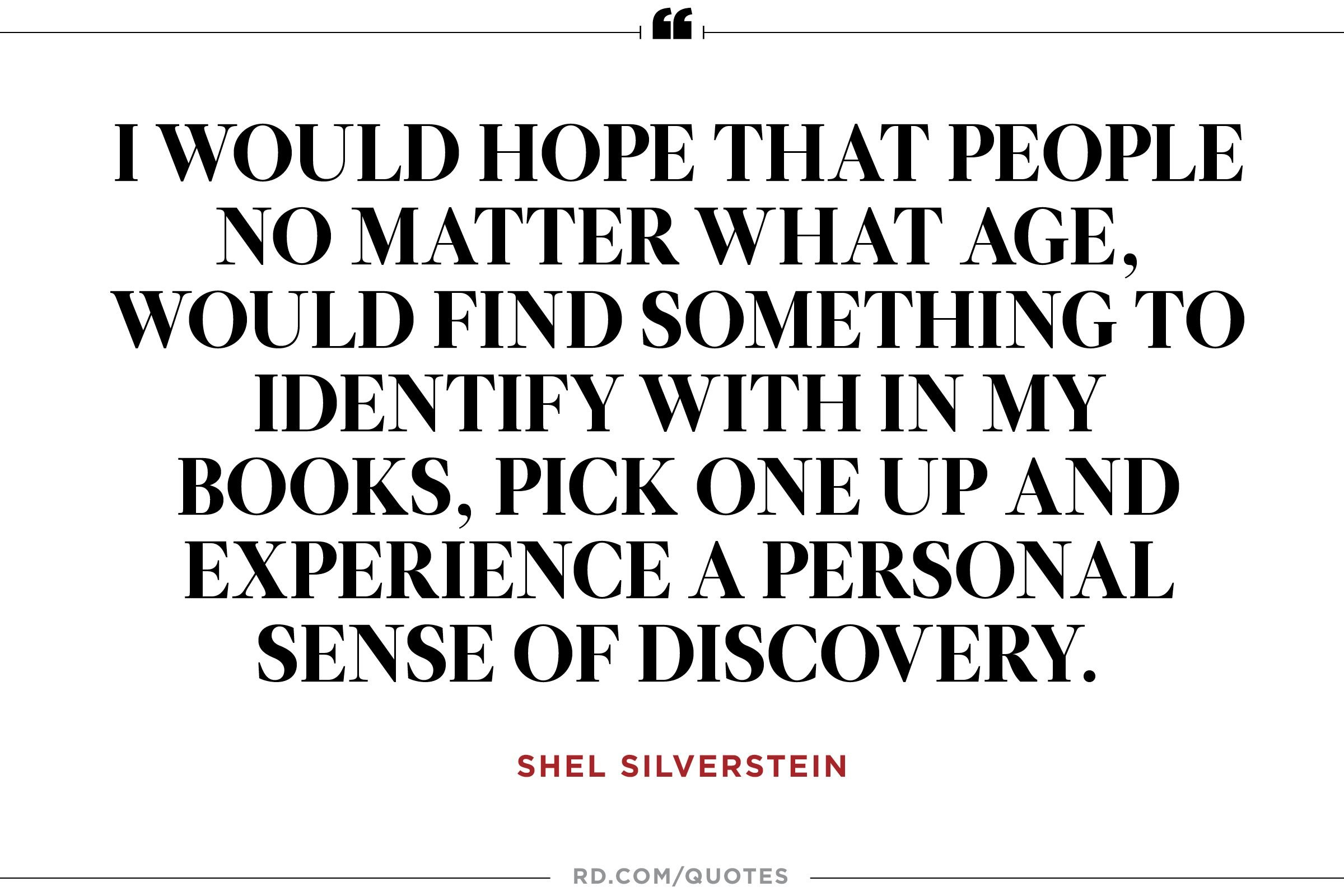 Inspirational Quotes For Young Adults 11 Motivational Quotes From Shel Silverstein  Reader's Digest