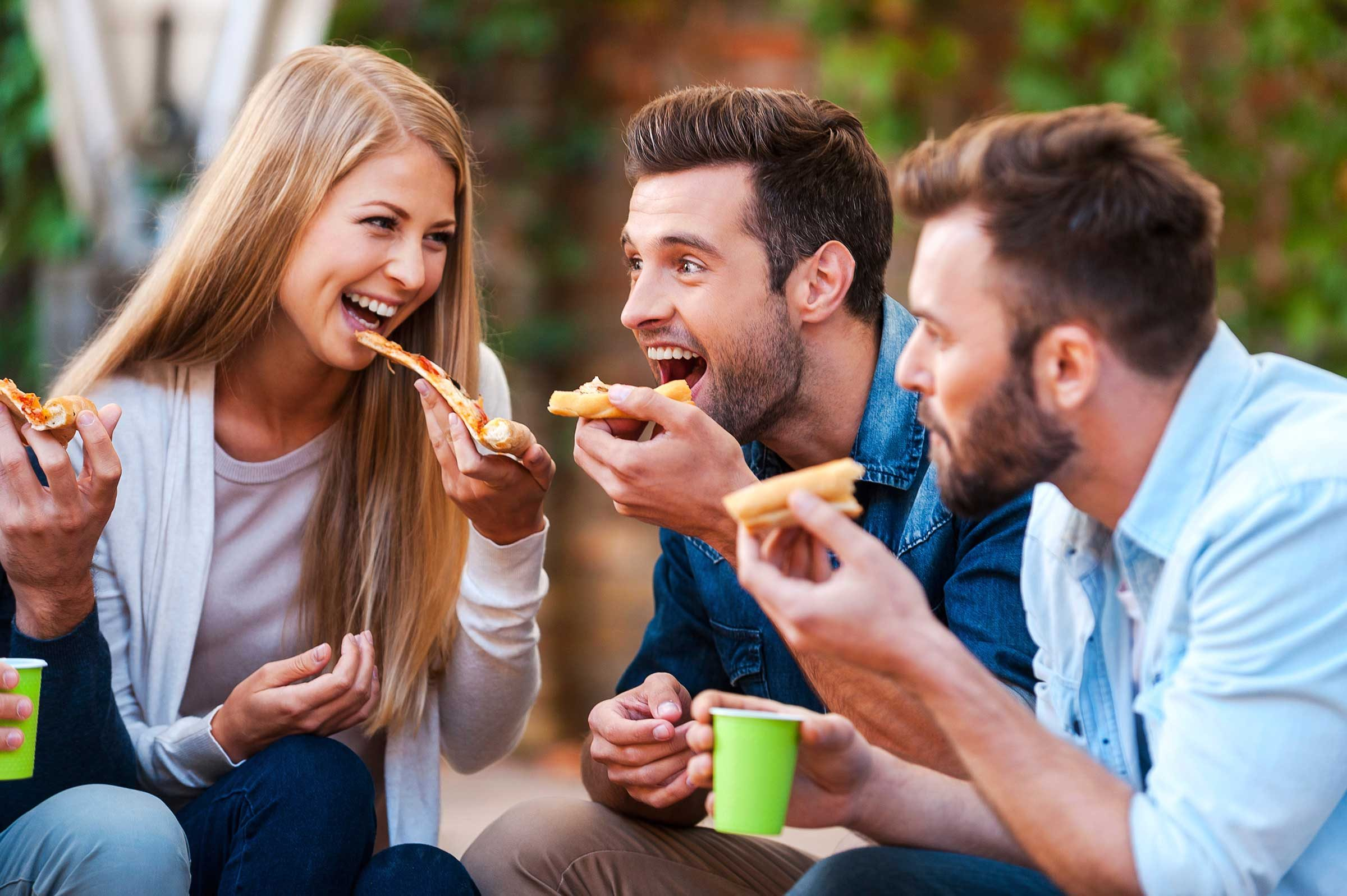 Young People Eating Junk Food