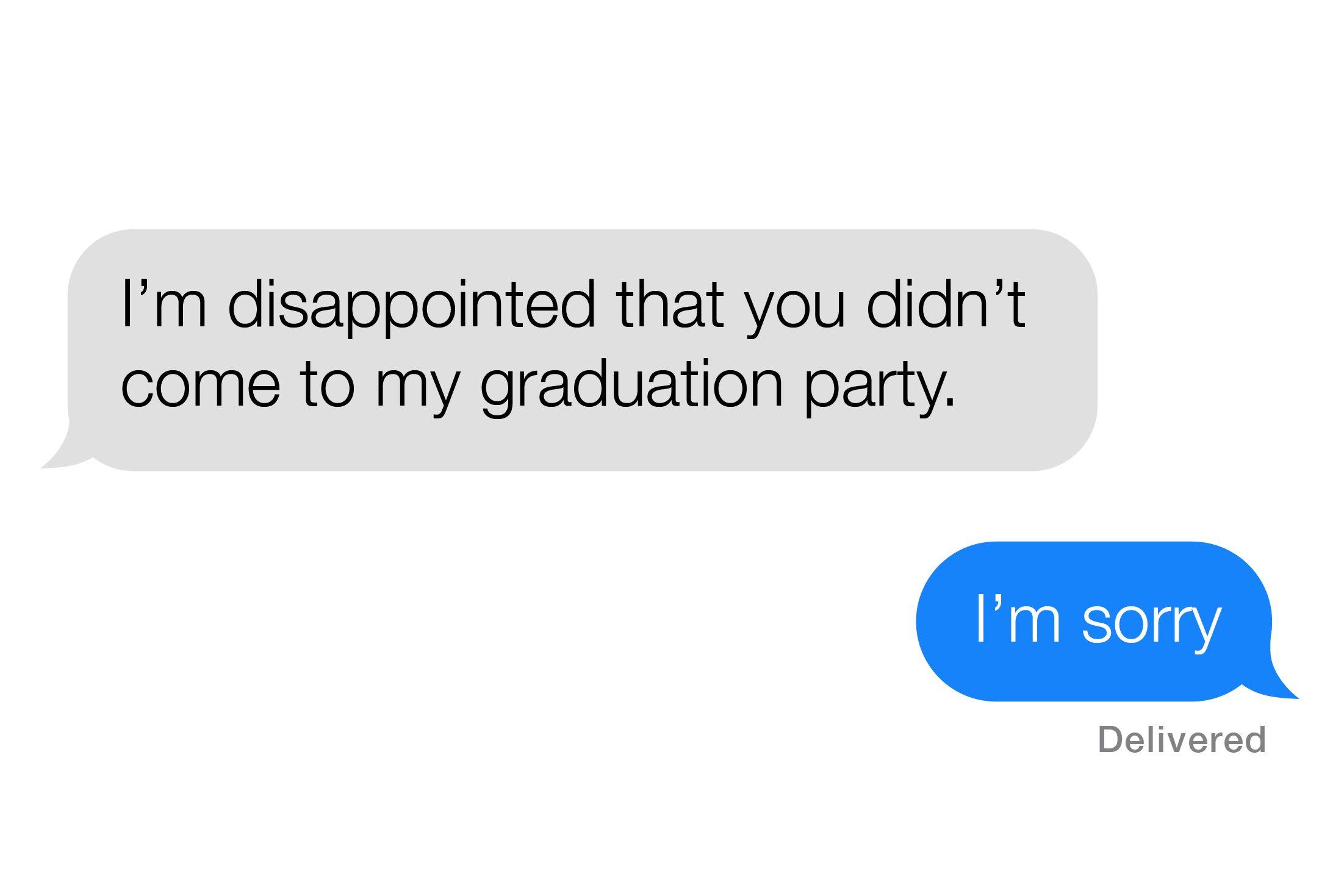 Screenshot of text conversation
