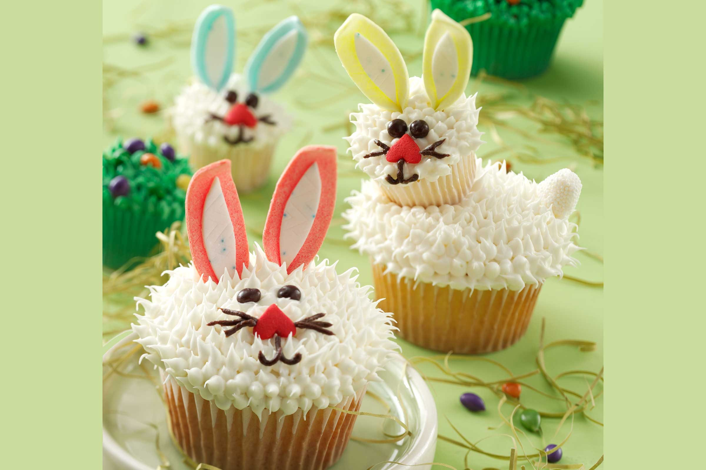 bunny shaped foods easter bunny cupcakes