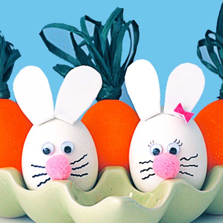 easter bunny and carrot eggs easter crafts