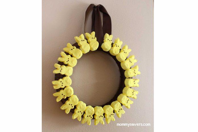 easter peeps wreath easter crafts