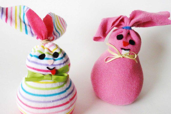easter sock bunnies easter crafts