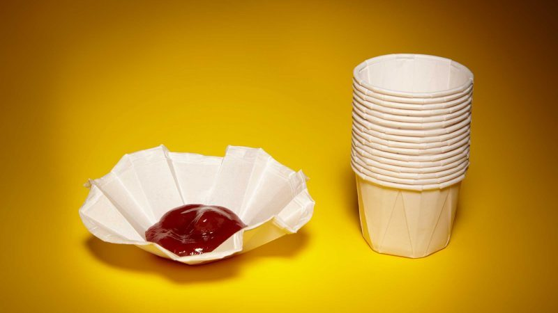 food containers ketchup paper cup