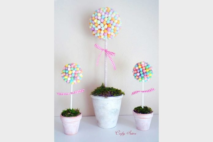 jelly bean topiary easter crafts