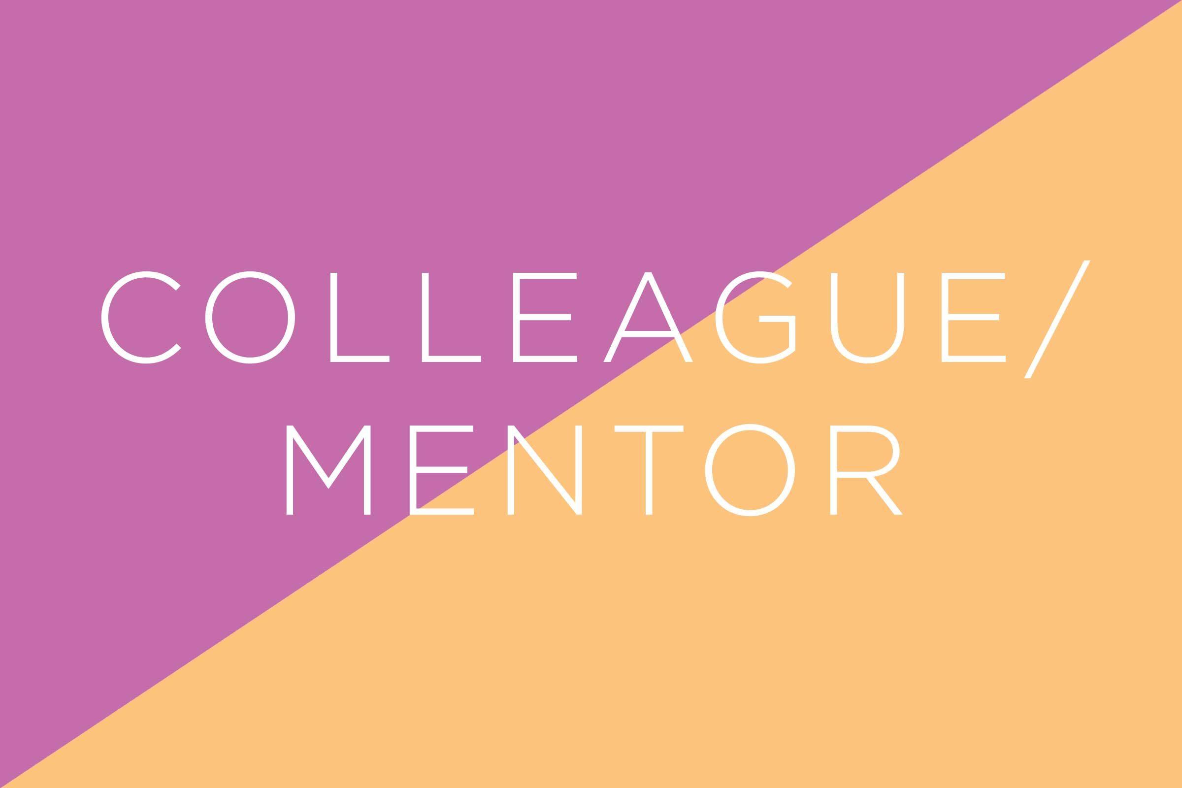 job interview words colleague mentor