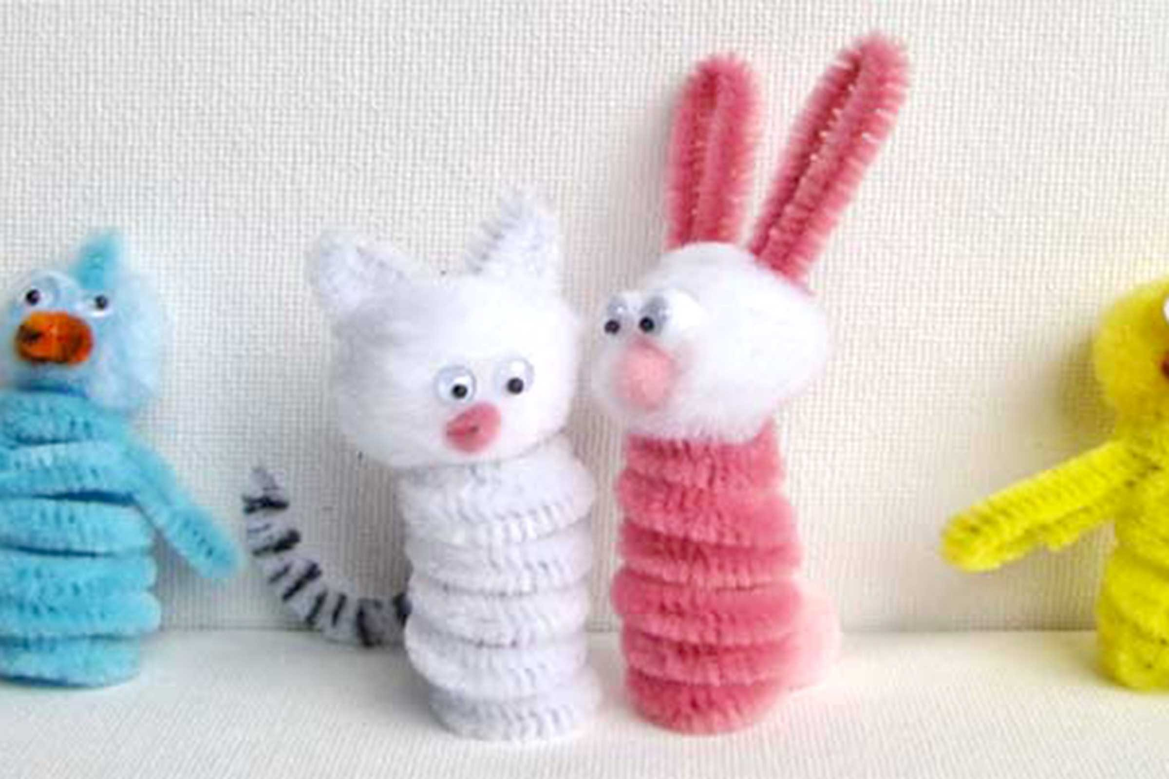 Easter crafts to brighten any home readers digest pipecleaner finger puppets negle Gallery