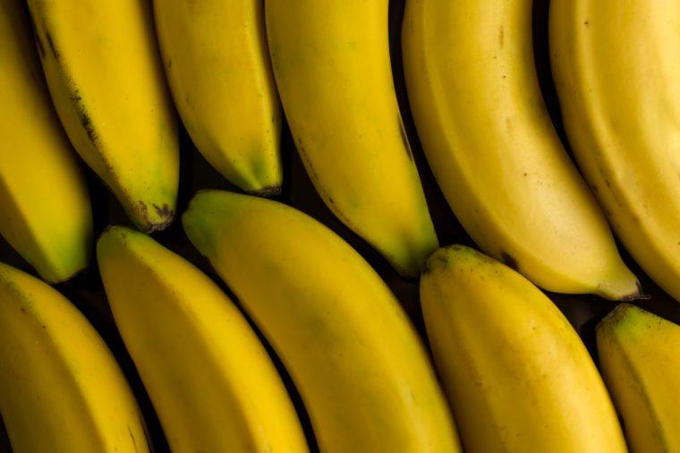 Bananas isolated on black background