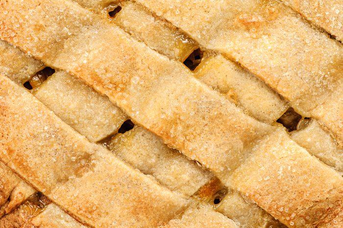 Apple pie close up background