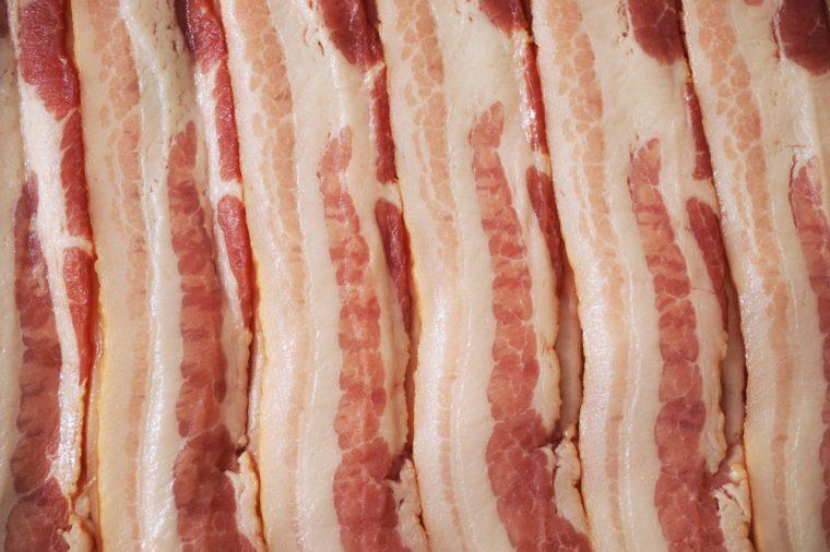 raw bacon background