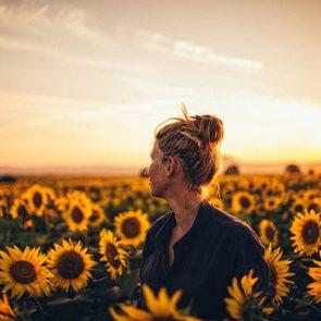 inspirational poems sunflower field