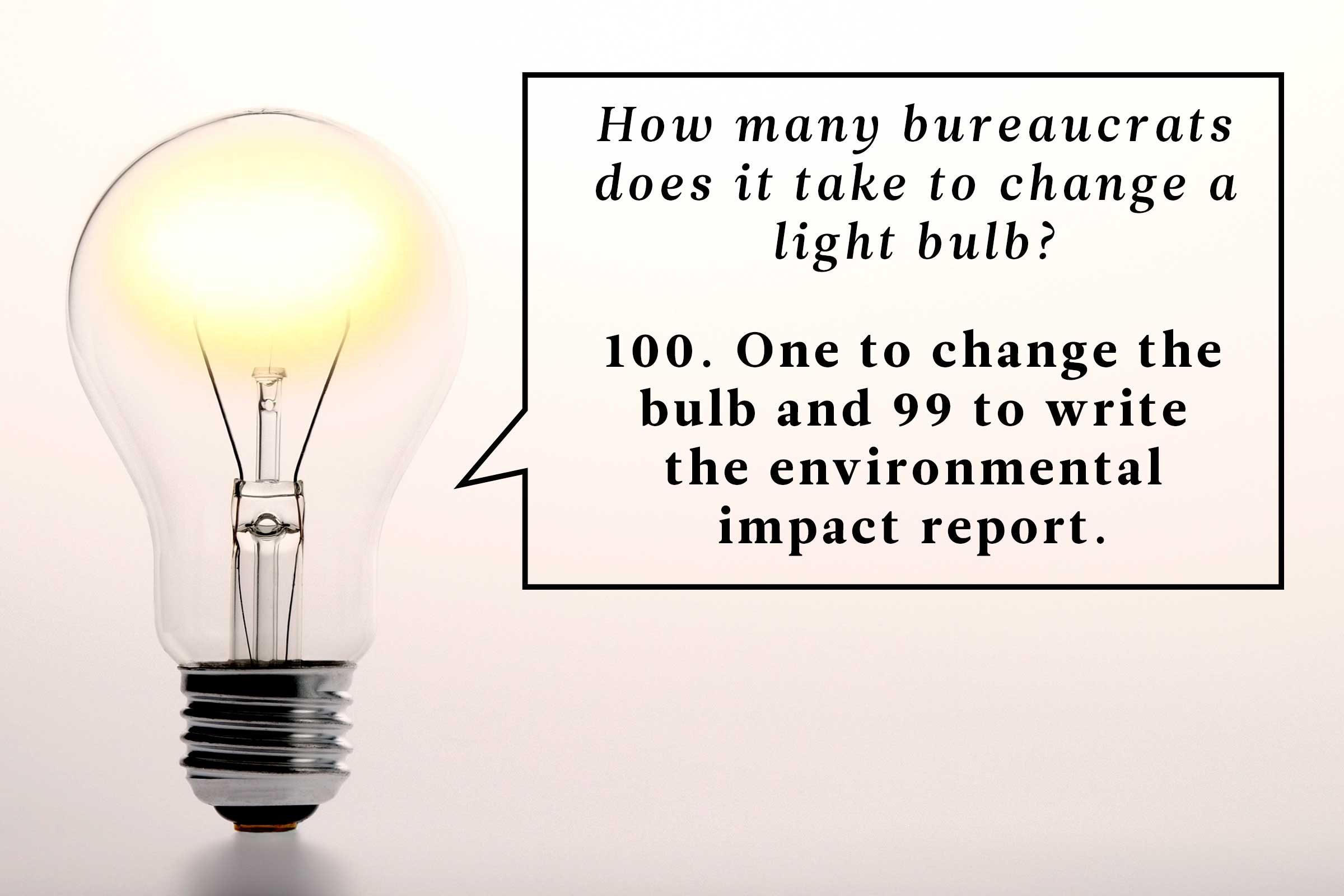 Light Bulb Joke: How Many Bureaucrats .