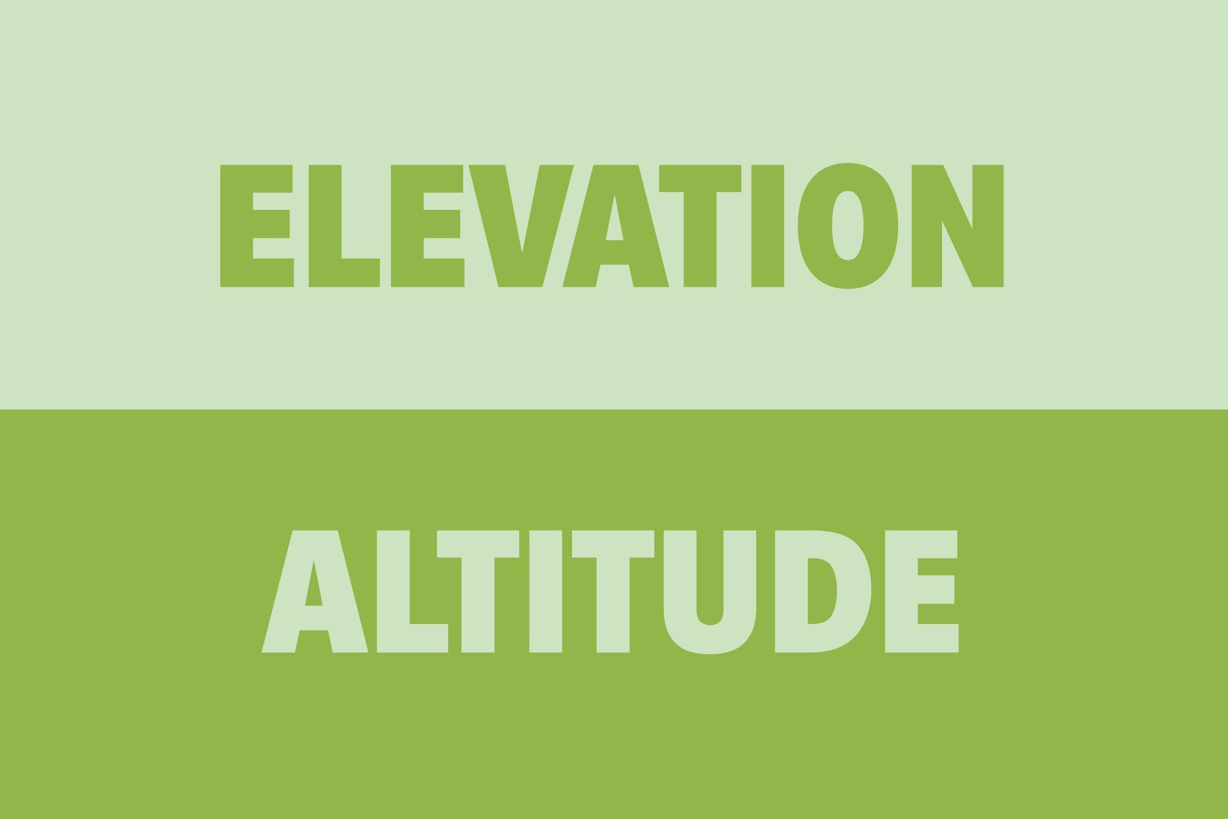 Elevation vs Altitude