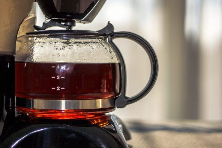 clean kitchen appliances coffee maker