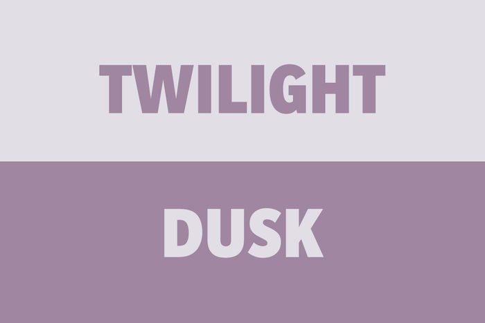 Twilight vs Dusk
