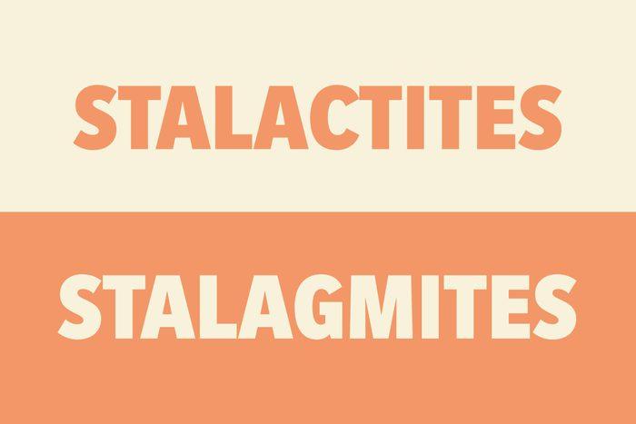 Stalactites vs Stalagmites