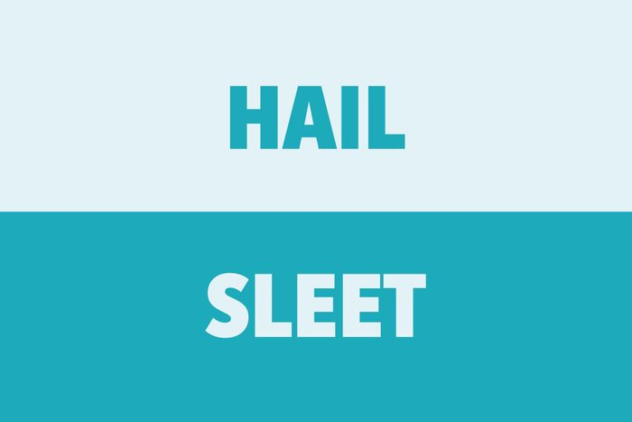 Hail vs Sleet