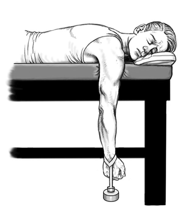 dislocated shoulder arm hang