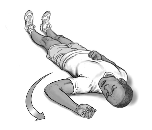 dislocated shoulder arm rotation 2