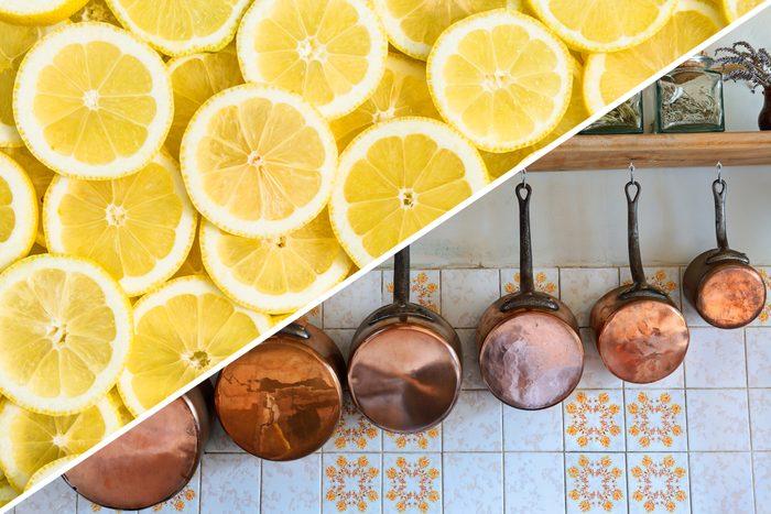 brass cleaning lemon copper