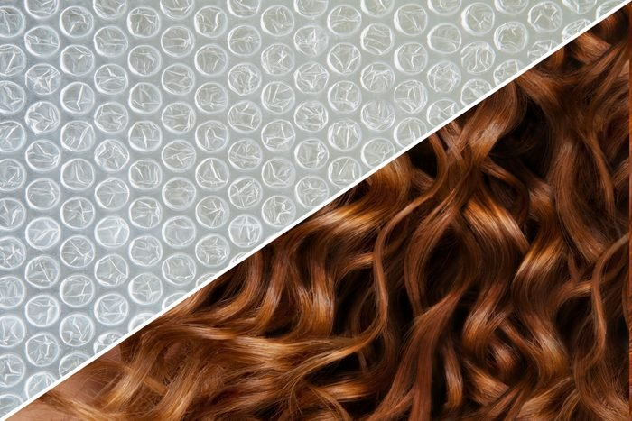 curly hair bubble wrap