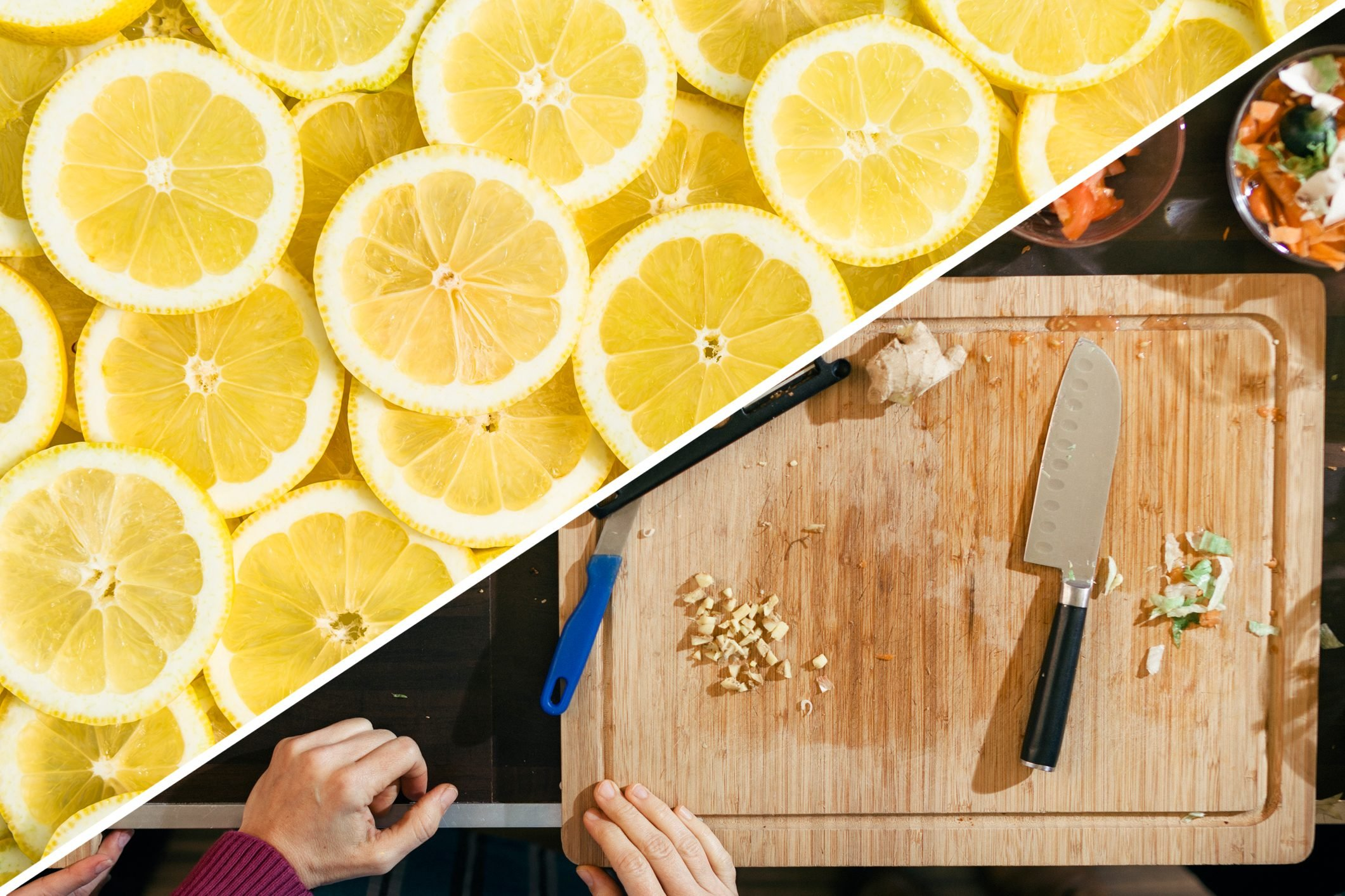 cutting board clean lemon uses