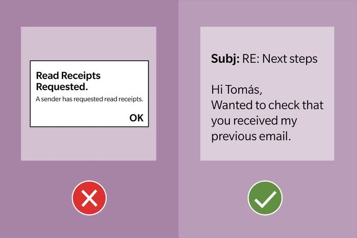Email Etiquette Tip 15 Dont Ask For Read Receipts