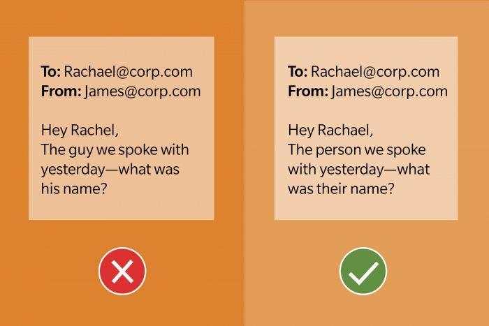 Email Etiquette Tip 8 Dont Assume Pronouns