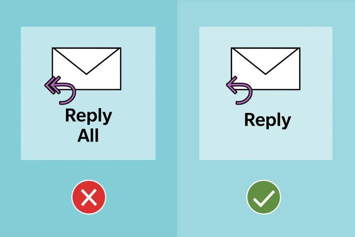Email Etiquette Tip 9 Avoid Reply All