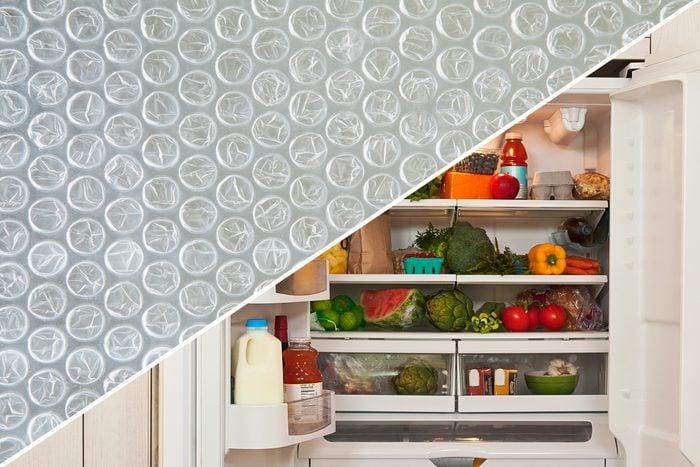 fridge bubble wrap