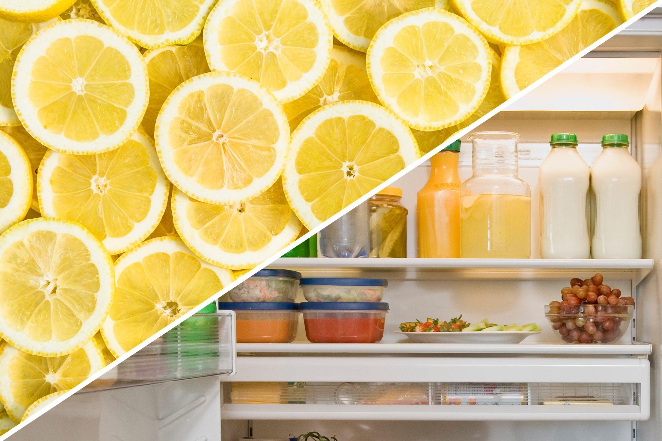 refrigerator clean lemon