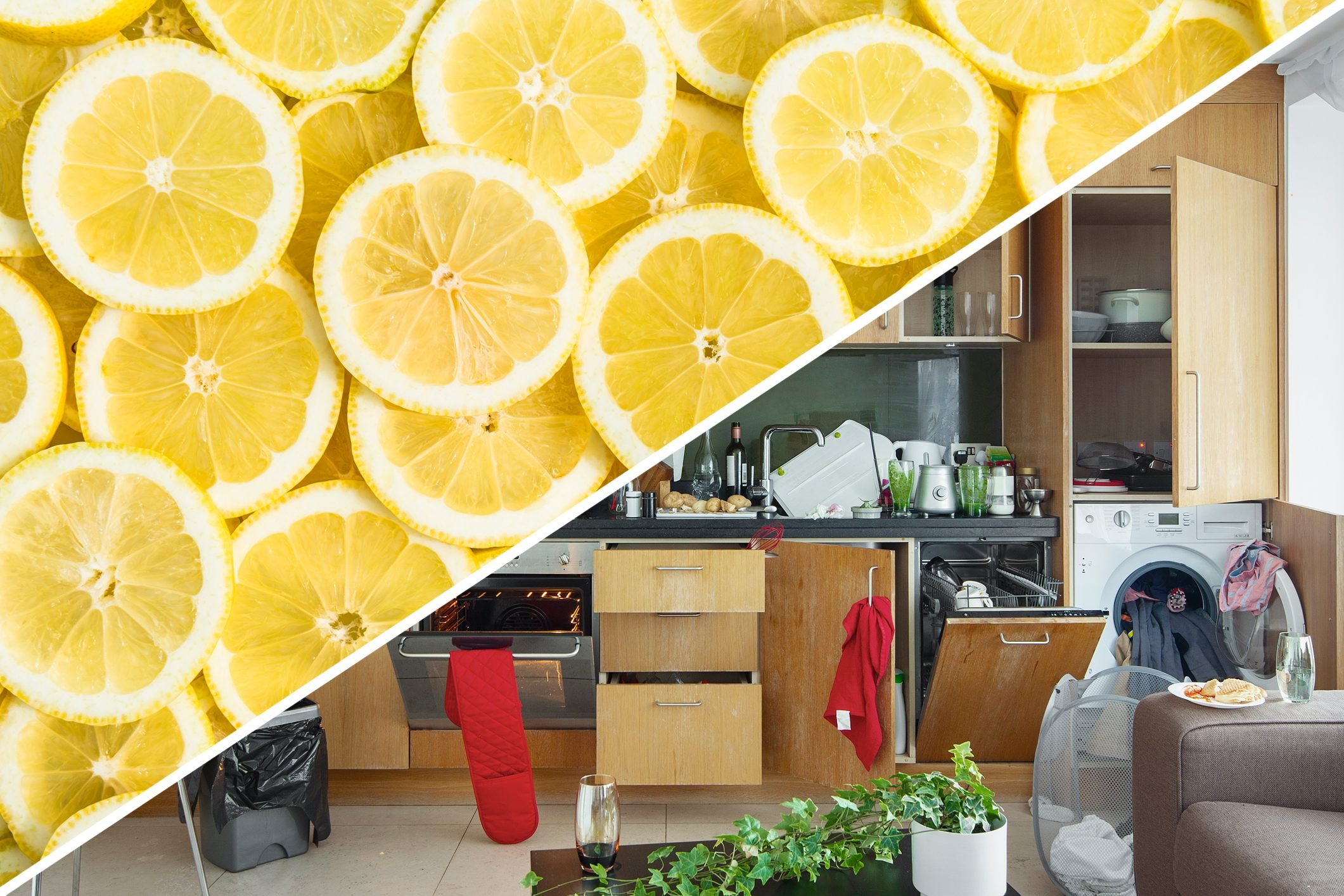 messy kitchen odor lemon uses