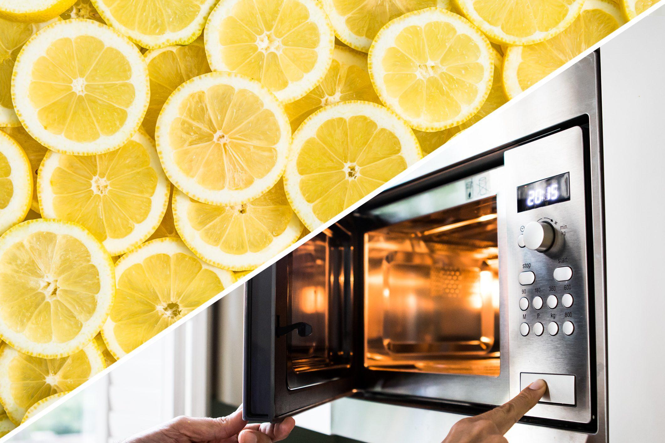 microwave clean lemon uses