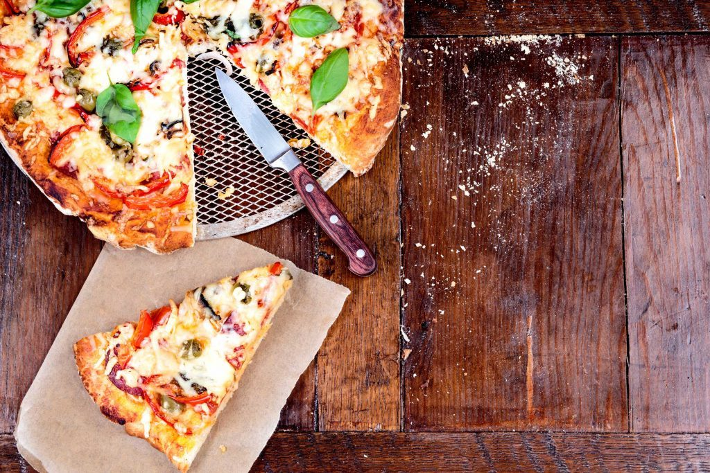 pizza knife fork