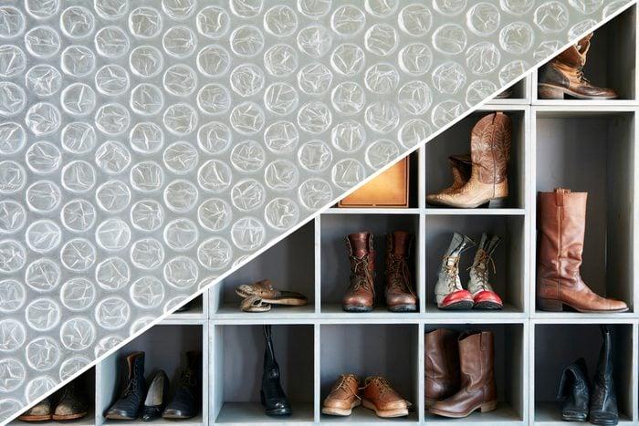 shoes bubble wrap