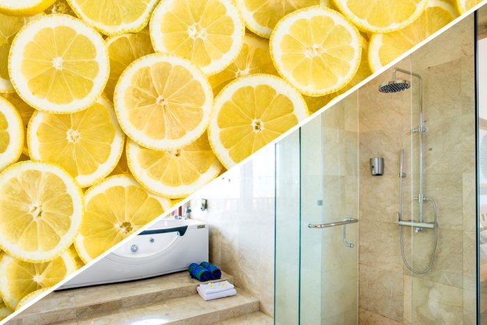 grime clean shower door lemon uses