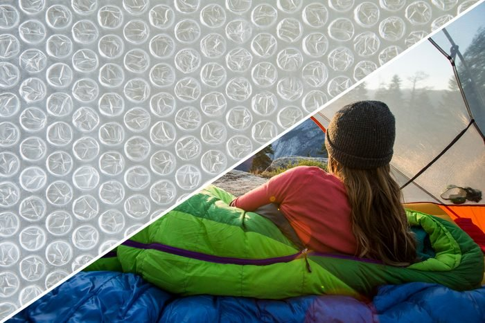 sleeping bag bubble wrap